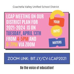 LCAP MEETING APRIL 13TH