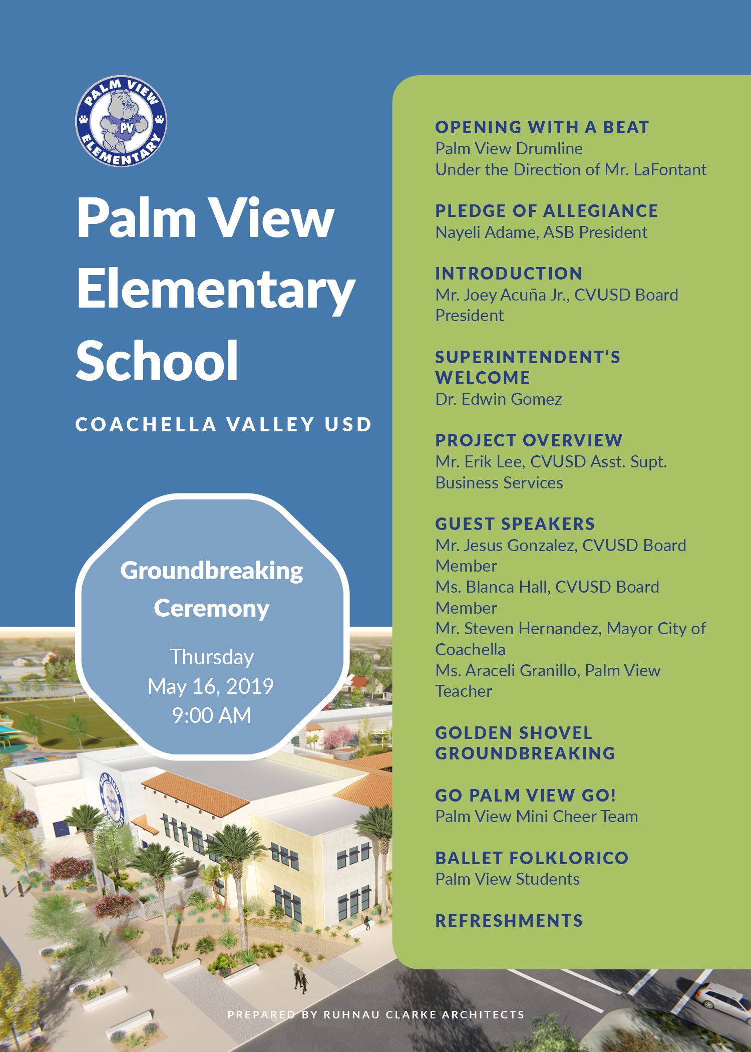 Palm View Elementary ground braking